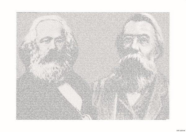 """Marx und Engels Poster """"Manifest der Kommunistischen Partei"""""""