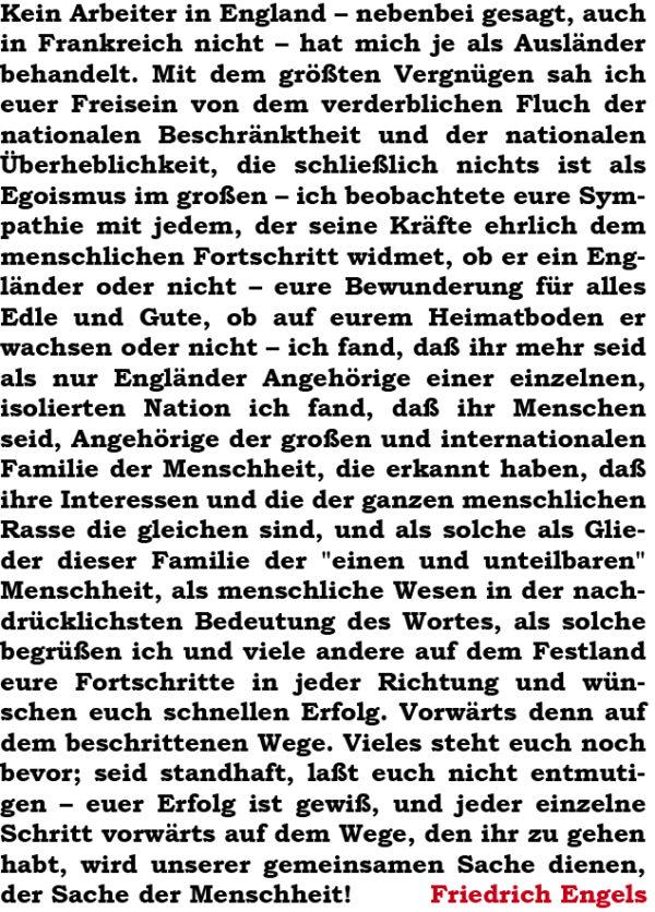 Friedrich Engels Textpostkarte